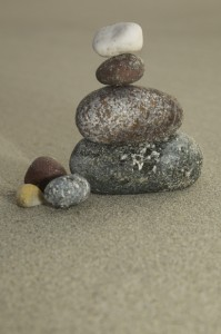Pebbles stacked