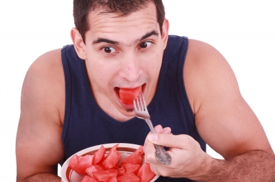man-eating-watermelon