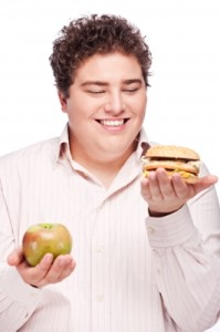 chubby-man-holding-apple-burger