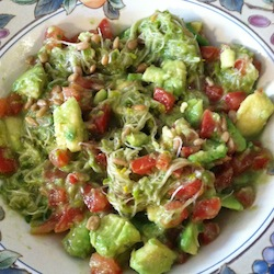 avocado-salad-sprout-basil