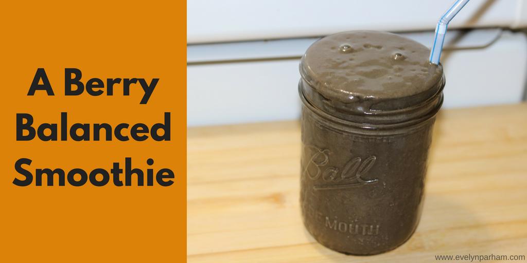 berry balanced smoothie