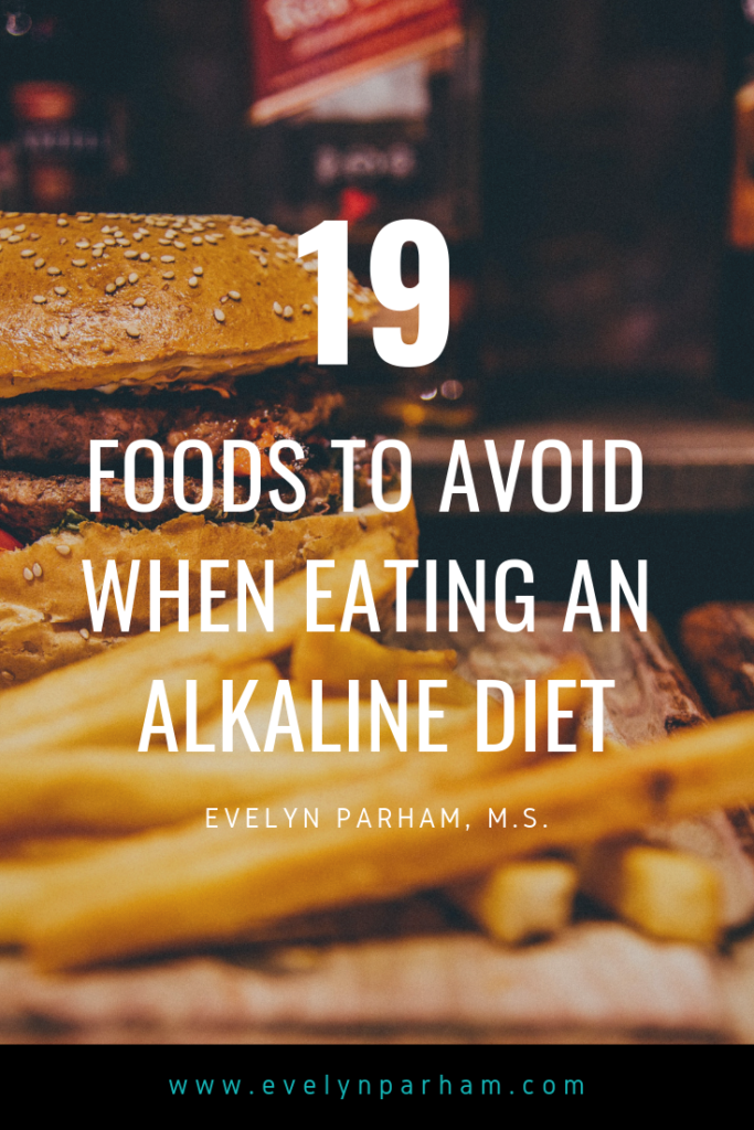 foods to avoid alkaline diet